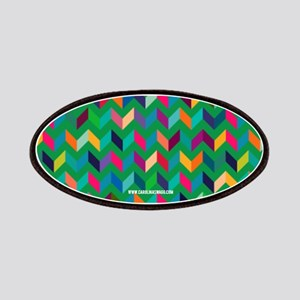 Cool Chevron V Pattern Wild Fun Colors Patch