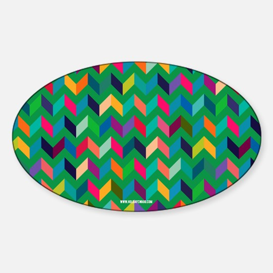 Cool Chevron V Pattern Wild Fun Colors Decal