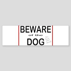 Beware Dog Bumper Sticker