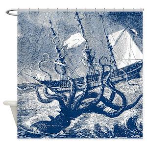 Cephalopod Shower Curtains
