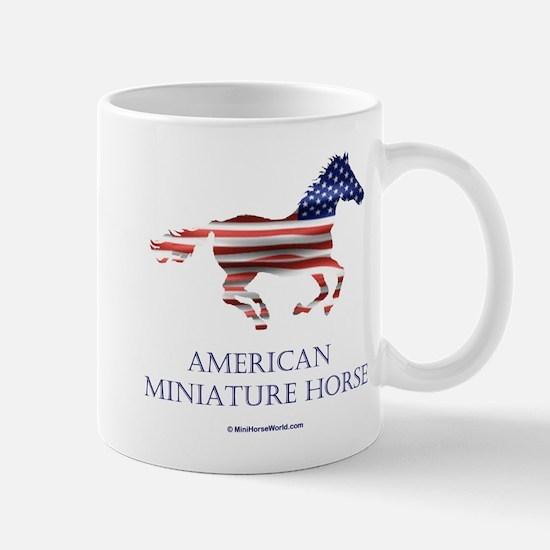 American Miniature Horse Flag Small Mug