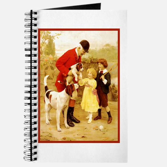 VINTAGE DOG ART: HUNTER, FOXHOUNDS... Journal