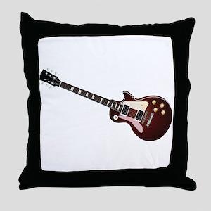 Les Paul guitar Throw Pillow
