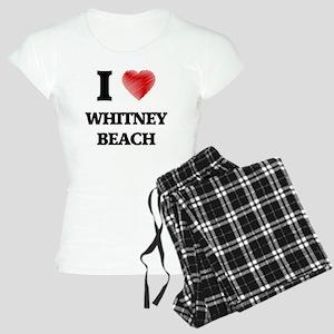 I love Whitney Beach Florid Women's Light Pajamas