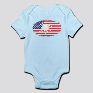 American Flag Apache T-shirt Body Suit