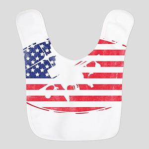 American Flag Apache T-shirt Bib