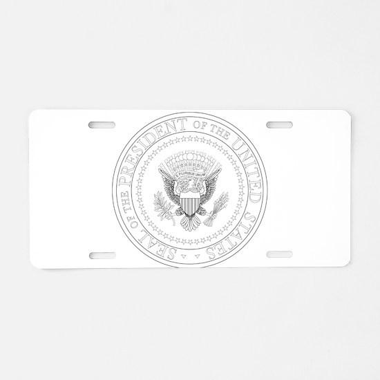 Presedent Seal Aluminum License Plate