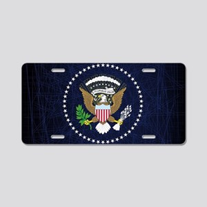 President Seal Eagle Aluminum License Plate