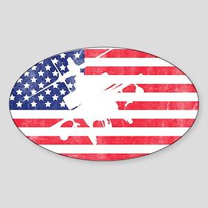 American Flag Apache T-shirt Sticker