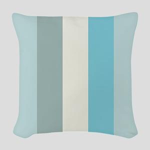 Beach Palette Stripe Woven Throw Pillow