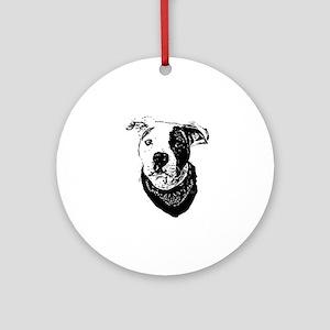 Pitbull dog Round Ornament