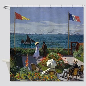 Jardin A Sainte Adresse by Claude M Shower Curtain