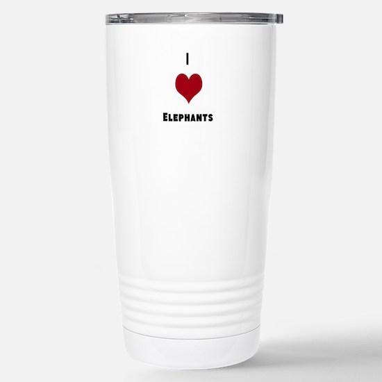 I Love Elephants Travel Mug