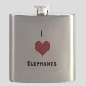 I Love Elephants Flask