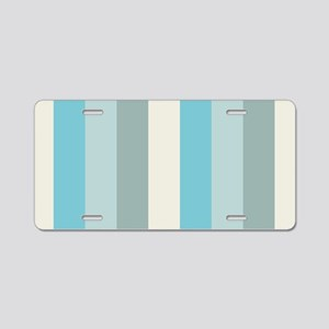 Beach Palette Stripe Aluminum License Plate