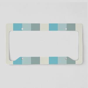 Beach Palette Stripe License Plate Holder