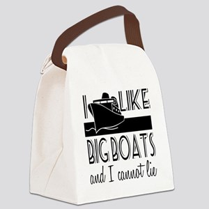 I Like Big Boats Canvas Lunch Bag