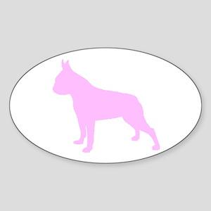 Boston Terrier Pink 1C Sticker