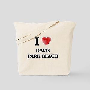I love Davis Park Beach New York Tote Bag