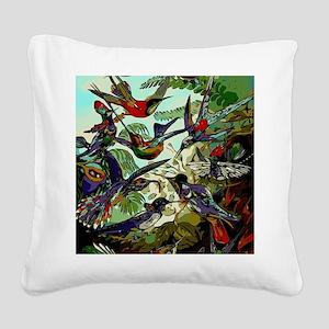 Beautiful Abstract Humming Bi Square Canvas Pillow