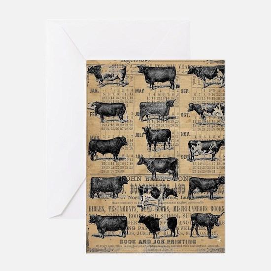 Cute Vintage farm Greeting Card