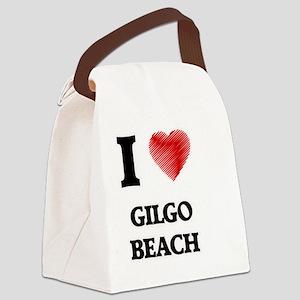 I love Gilgo Beach New York Canvas Lunch Bag