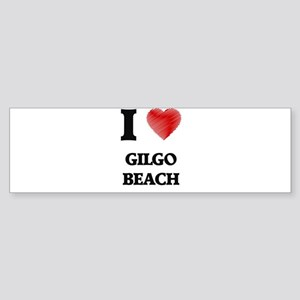 I love Gilgo Beach New York Bumper Sticker