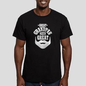 Bearded Grandpa Men's Fitted T-Shirt (dark)
