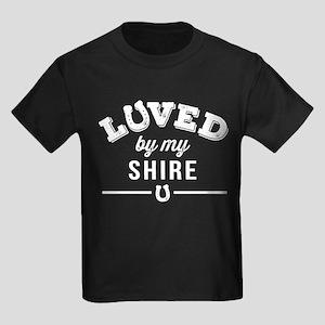 Shire Horse Lover Kids Dark T-Shirt