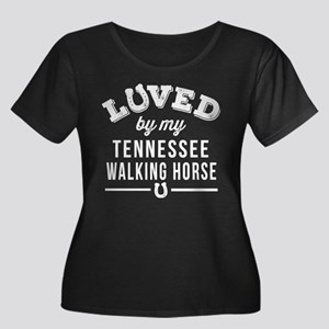 Tennesse Women's Plus Size Scoop Neck Dark T-Shirt
