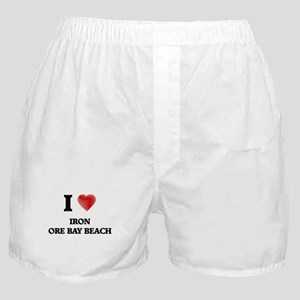 I love Iron Ore Bay Beach Michigan Boxer Shorts
