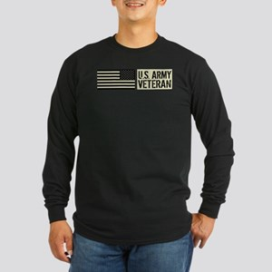 U.S. Army: Veteran (Black Long Sleeve Dark T-Shirt