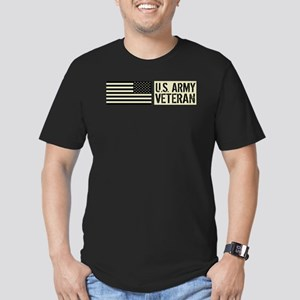 U.S. Army: Veteran (Bl Men's Fitted T-Shirt (dark)