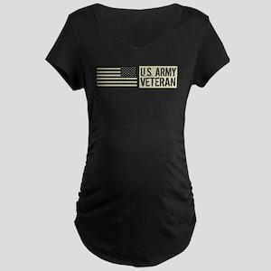 U.S. Army: Veteran (Black F Maternity Dark T-Shirt