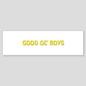 Good Ol' Boys Bumper Sticker