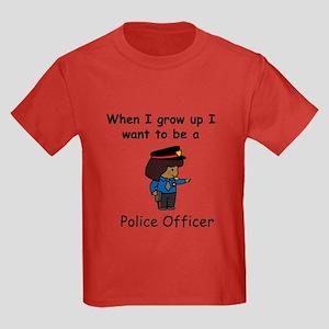 Police Officer Kids Dark T-Shirt