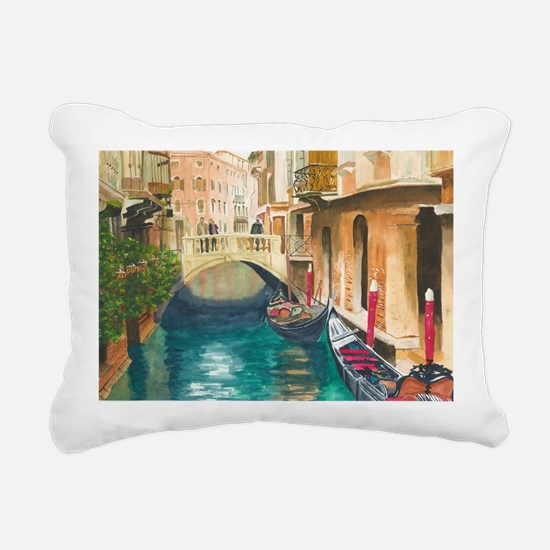 Unique Venice Rectangular Canvas Pillow