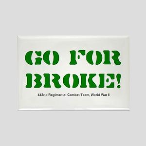 go for broke Rectangle Magnet