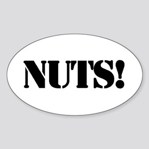 nuts Oval Sticker