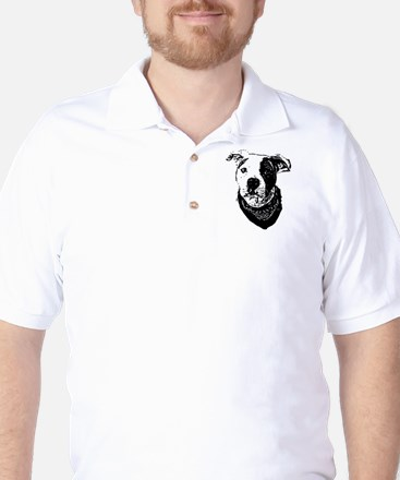 Pitbull dog Golf Shirt