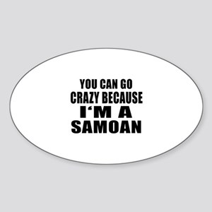 Samoan Designs Sticker (Oval)