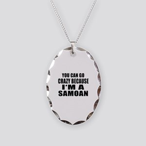 Samoan Designs Necklace Oval Charm