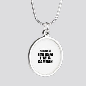 Samoan Designs Silver Round Necklace