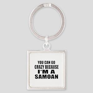 Samoan Designs Square Keychain