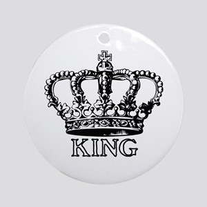 King Crown Ornament (Round)