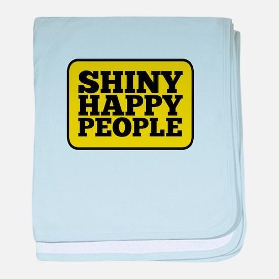Shiny Happy People baby blanket