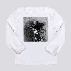 Cute girl in black and white Long Sleeve T-Shirt