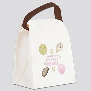 A Pearl Canvas Lunch Bag