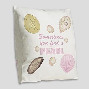 A Pearl Burlap Throw Pillow