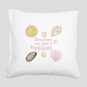 A Pearl Square Canvas Pillow